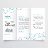 minimal tri-fold brochure design template for your business