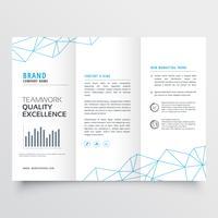 modelo de design de brochura tri-fold mínimo para o seu negócio