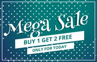 abstract mega sale discount voucher template design