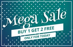 abstract mega sale discount voucher template design