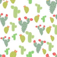 Succulents Seamless Background