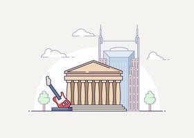 Nashville Landmark Illustration