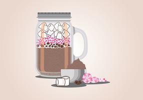Vector de mezcla de chocolate caliente