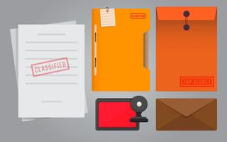 Cachet och Stationery Illustration.
