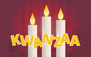 Kwanzaa Illustration Greetings. African American holiday festival of harvest. vector
