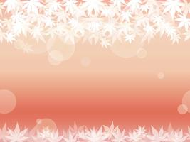 A seamless maple leaf background on a pinkish background.  vector