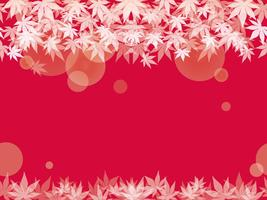 A seamless maple leaf background on a red background. vector
