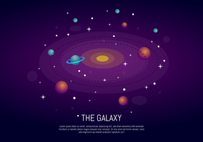 The Galaxy Ultra Violet Background vector