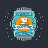 Coffee Badge Illustration