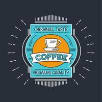 Coffee Badge Illustration