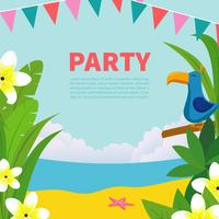 Polynesian Birthday Party illustration vector