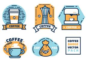 Kaffe Badge Vector Pack