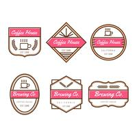 Collection de Vector Badges café