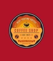 Unika kaffe emblem vektorer