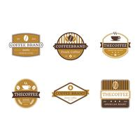 Kaffe Badges Vector Collection