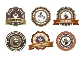 coffe badge vektor samling