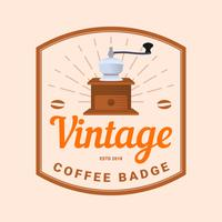 Flat Vintage Coffee Badge Vector