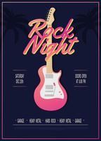 Rock Konzert PosterTemplate Vektor