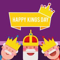 Ilustración del vector de Kings Day