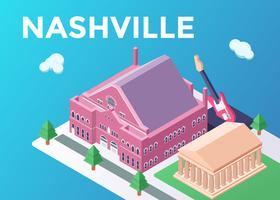Nashville Landmark Illustration vector