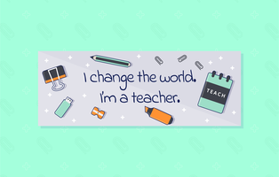 Unique Teacher Facebook Cover Vectors