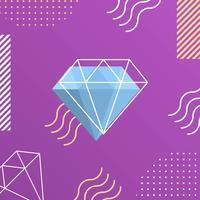 Flat Lila Prism Vektor Bakgrund