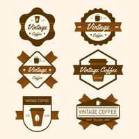 Collection de badges de café