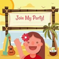 Tropical Birthday Party Template vector