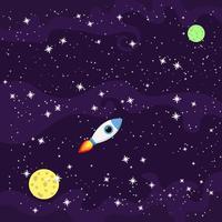 Fondo galáctico ultravioleta