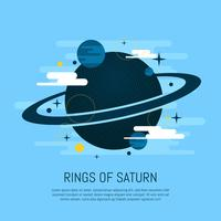 Rings of Saturn Vector Illustration
