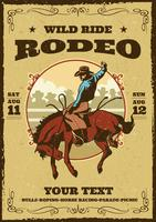 flyer de rodeo retro