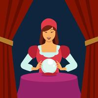 Fortune Teller Flat Illustration Vector