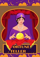 Woman Fortune Teller vector
