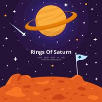 Ringe von Saturn-Vektor-Illustration