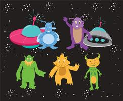 Intergalactic Monsters Vector