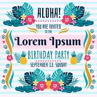 Polynesian Födelsedag Invitation Vector
