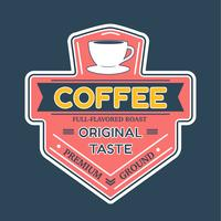 Vecteur de Badge logo café