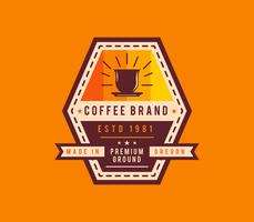 Único café insignia Vectores