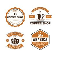 Koffie badges vector set