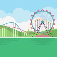 Illustration de paysage de parc d'attractions