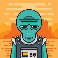 Martian Illustration
