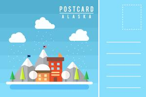 Postal única de los vectores de Alaska