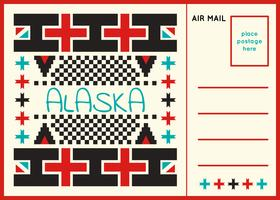 Einzigartige Postkarte von Alaska Vectors