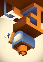 Isometric typography