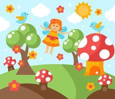 Vetor de jardim de fantasia