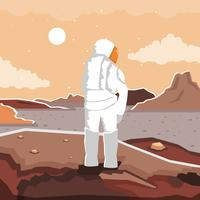 Mars Exploration Mission vector