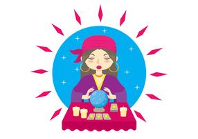 Fortune Teller character Illustration