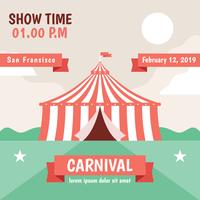 Carnival Poster Vector Template