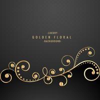 Premium oro floral sobre fondo negro