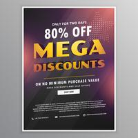 mega discounts sale flyer design template with offer details